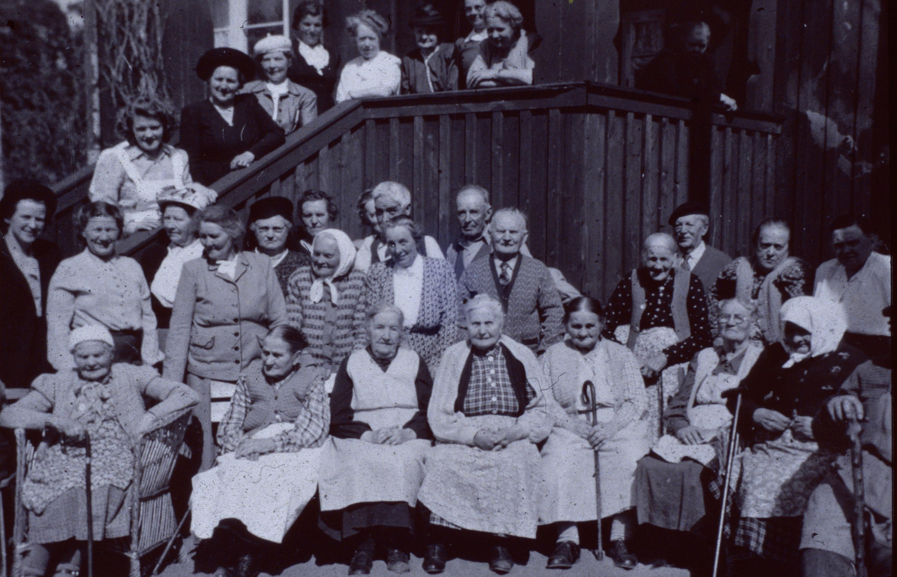 Boende och personal omkr 1950