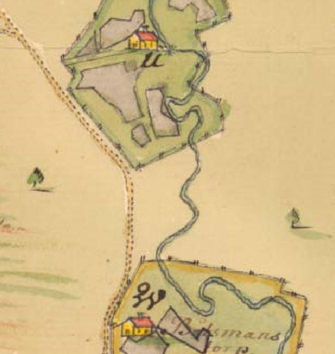 Karta Jordbro 1742