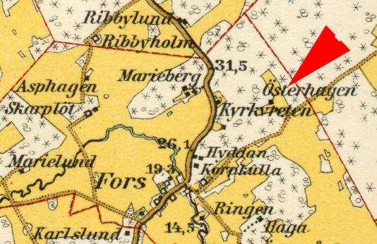 Karta Österhagen