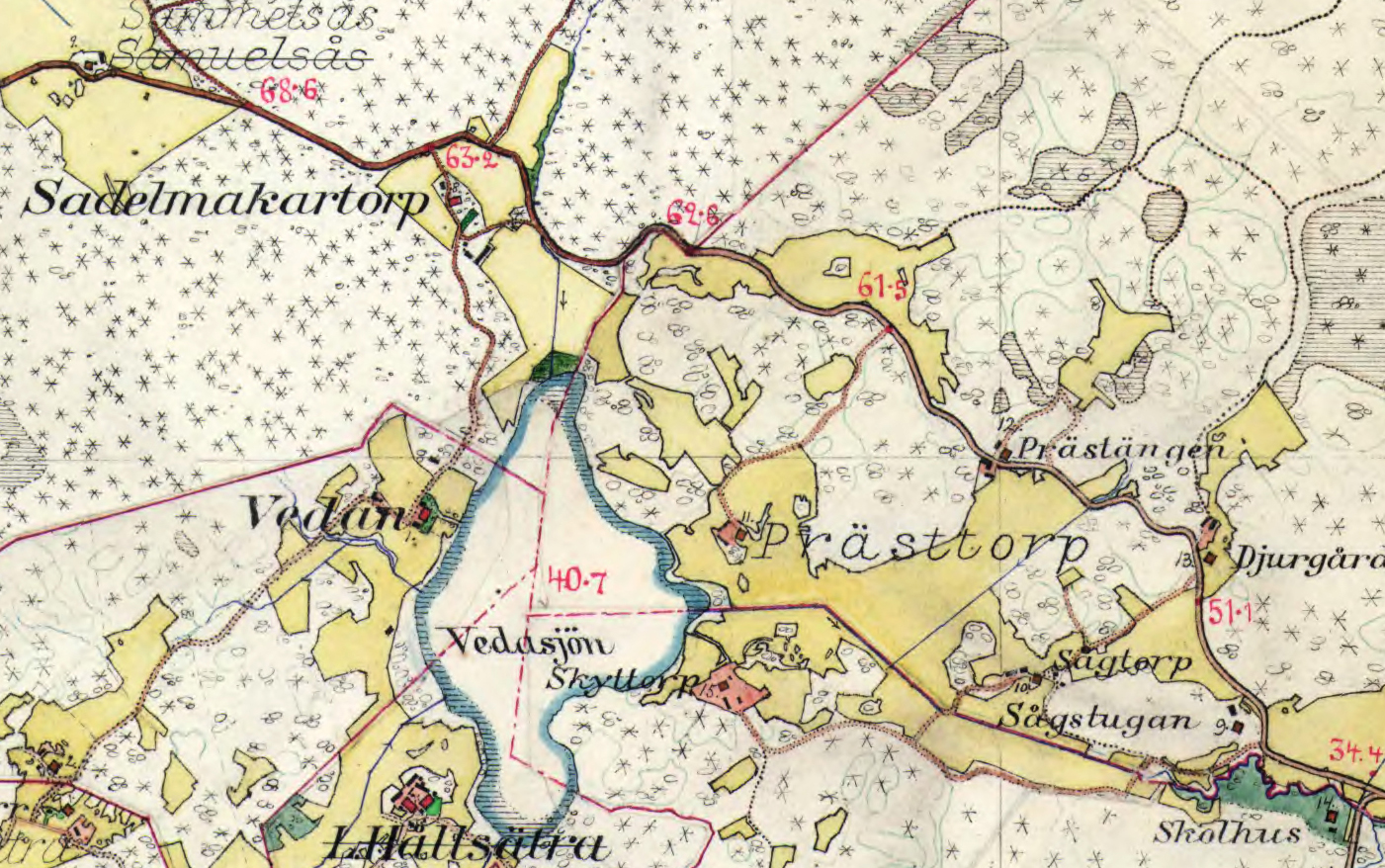 Prästäng karta