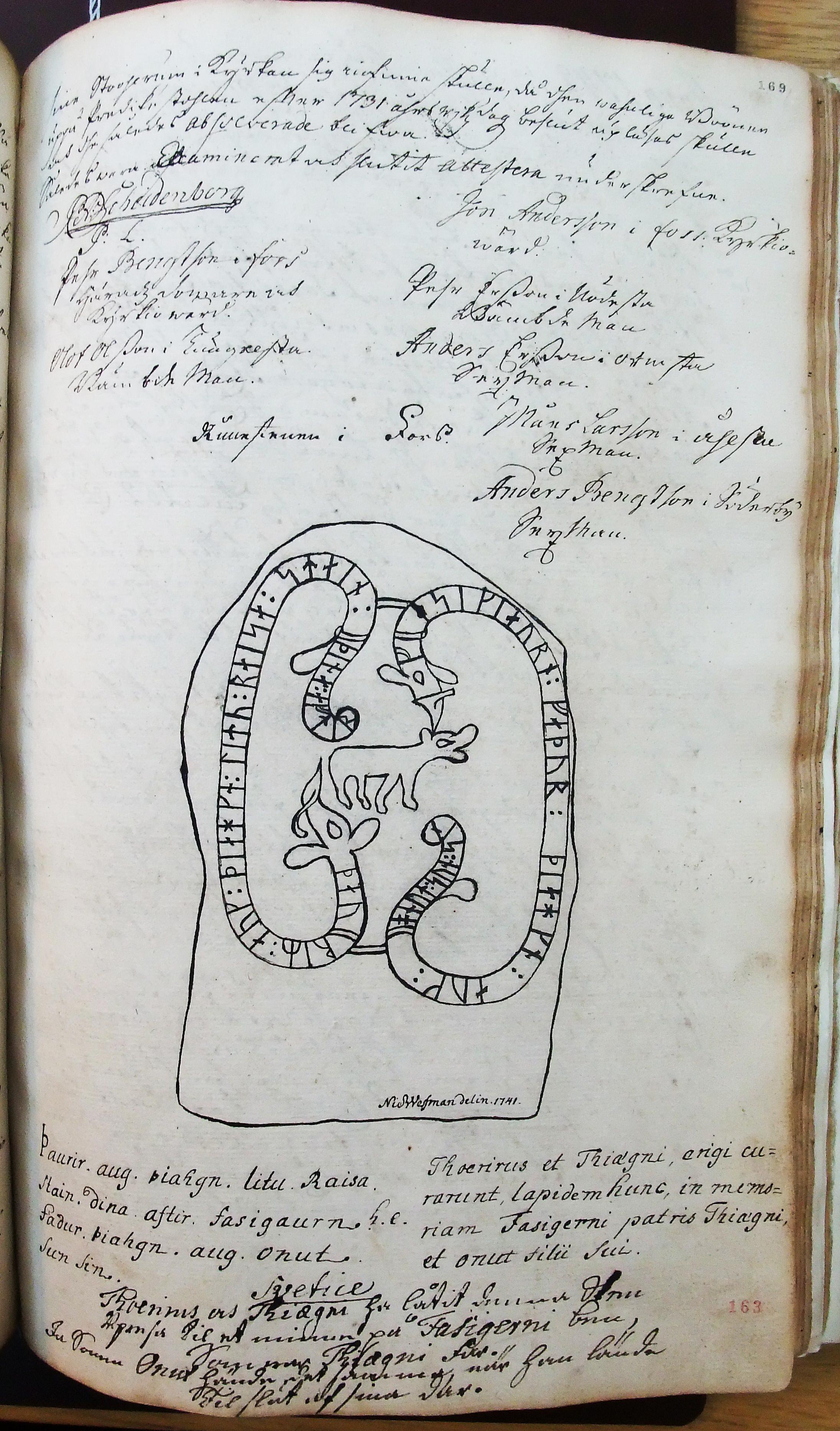 Runsten 1741 i sockenstämmohandlingar Bild 2